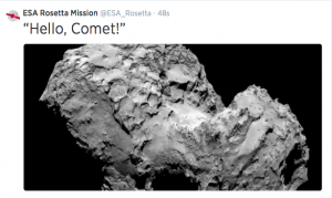 Close up image of 67P taken today by Rosetta as it arrived
