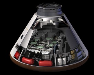 Cutout view of the Orion Spacecraft © NASA