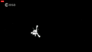 Philae Lander imaged from Rosetta