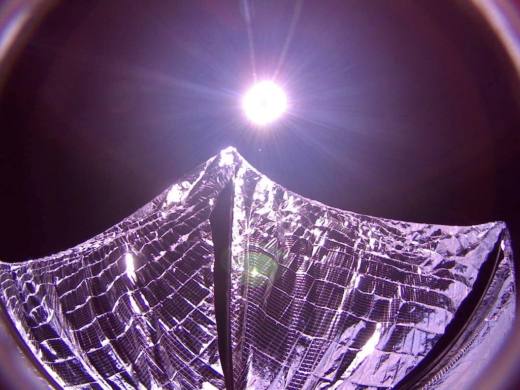 Full Image of Deployed Solar Sails